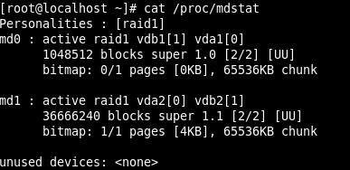 Weryfikacja stanu macierzy Software RAID